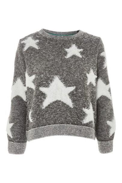 Topshop jumper pattern monochrome sweater