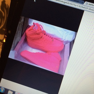 shoes pink shoes sneakers nike air nike air force 1 high top nike air force hyperfuse