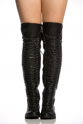 shoes thigh high boots thigh-high boots black knee high boots combat boots black combat boots boots