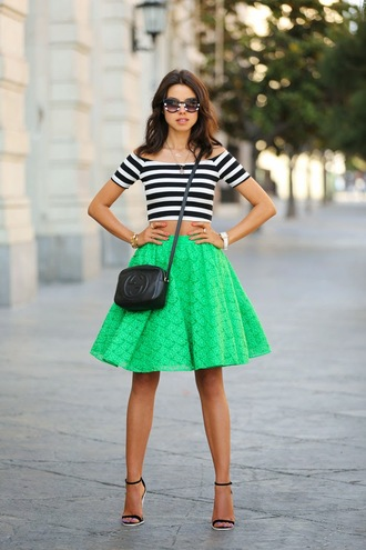 viva luxury skirt shoes bag t-shirt sunglasses jewels