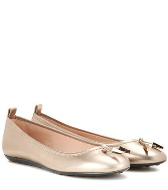 metallic leather gold shoes