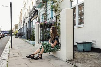 iemmafashion blogger pants black shoes stripes tropical printed pants