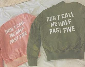 jacket bomber jacket khaki grunge streetwear pink
