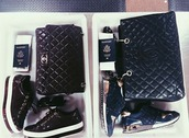 bag,clermonttwins,twin set,chanel,rich bitches,$$$$,black,slay together,airport flow,where to next ?