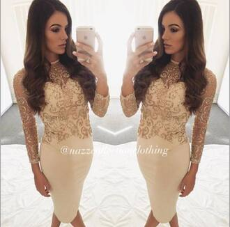 dress nude nude dress sparkle sparkly dress glitter glitter dress midi dress midi party dress party prom dress prom prom gown open back open back dresses style stylish pretty fashion long sleeves short dress dressofgirl cute cute dress