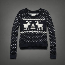 Womens Size Medium Abercrombie Fitch Gemma Moose Sweater Shirt Hollister   eBay