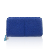 bag,jc unique,purse,blue,leather,tassel