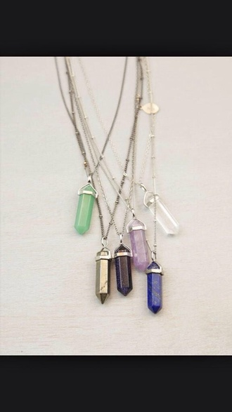 jewels charms pendant choker necklace necklace indie hipster fall christmas crystal quartz