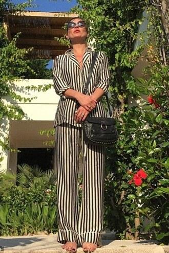 pants stripes shirt kate moss