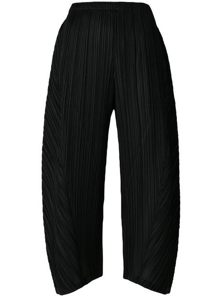 Pleats Please By Issey Miyake cropped women black pants