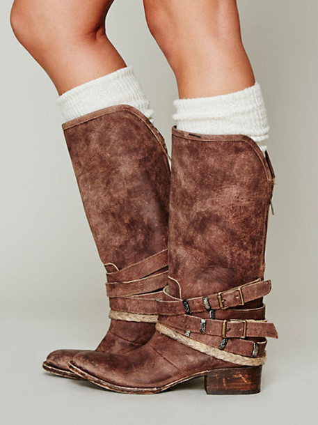 shoes brown boots