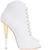Giuseppe Zanotti Spring 2014 White Snake Embossed Leather Peep-Toe Bootie - Buy Online - Designer Booties, Peep toe