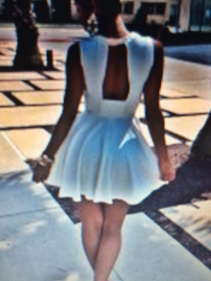dress white dress white cute dress short party dresses backless dress