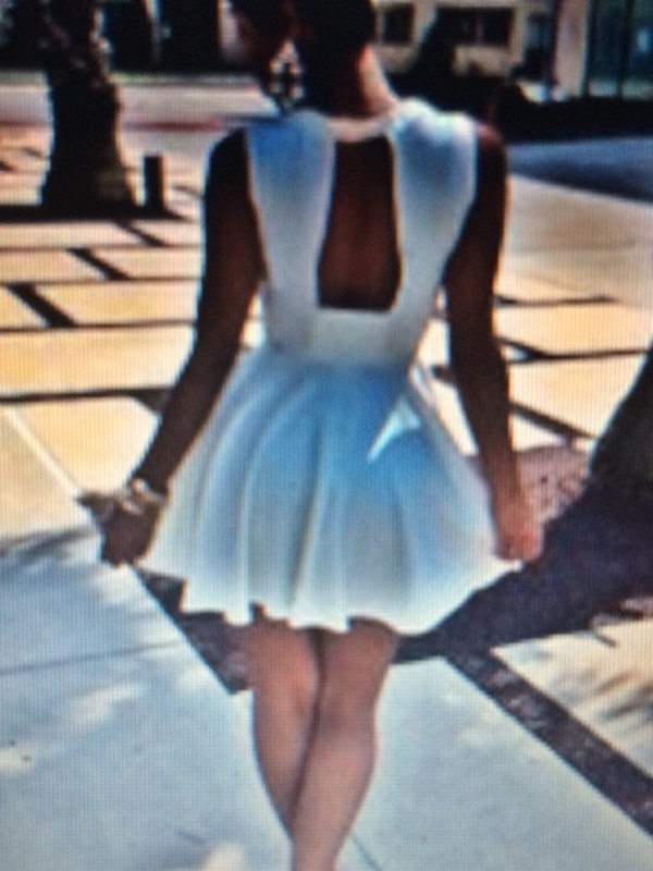 white white dress dress cute dress short party dresses backless dress