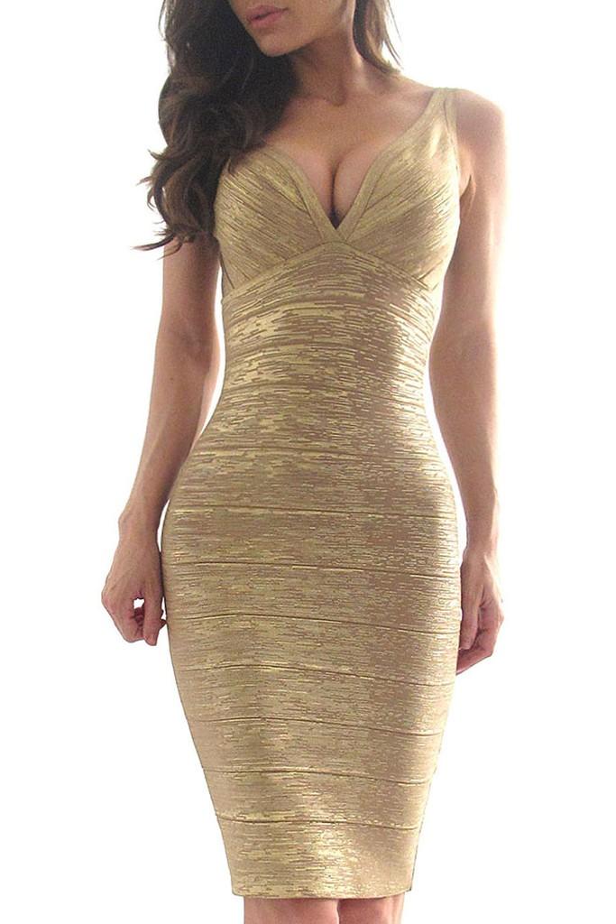 Бандажное платье в живую