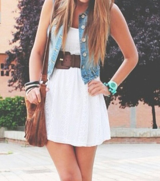 Dress Clothes Jacket Jewels Belt Country Cute Bag Leather Bag Indie Teenagers Hipster