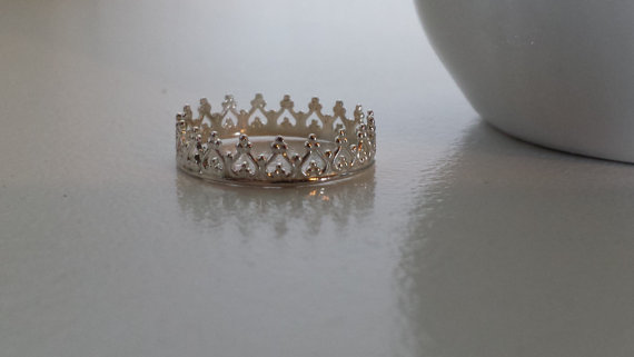Sterling Silver Crown Ring  Filigree Stack by ArbotiqueDesigns
