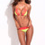 Neon Yellow & Red Triangle Lace Bikini Set | Emprada