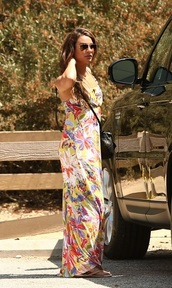 lea michele,dress,bag,flip-flops