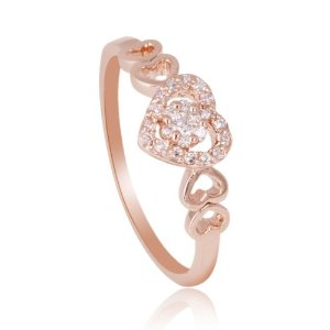 Amazon.com: Fashion Plaza 18k Rose Gold Plated Heart Shape Simulated Diamond Engagement Ring R396: Vintage Jewelry: Jewelry