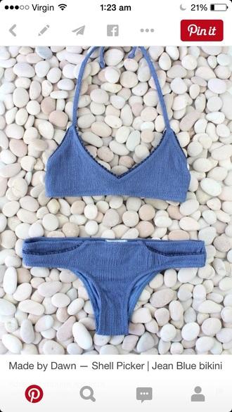 swimwear bikini blue bikini