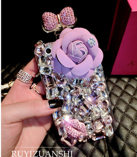 Aliexpress.com : buy plentiful diamond mobile phone bags case for iphone 6 4.7inch diy handmade rhinestone rose flower bowknot perfume bottle style from reliable case of beer price suppliers on shanmeizhenpin