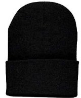 Amazon.com: Black Long Cuff Beanie Cap (Choose Many Colors Available), Black: Clothing