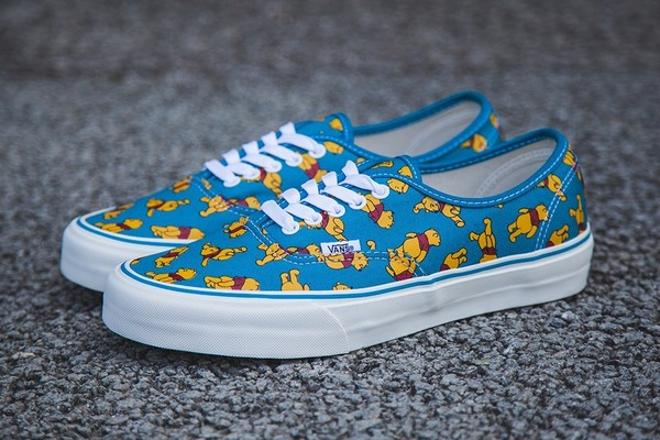 shoes vans disney winnie the pooh pooh vans pooh disnez vans pooh disney vans blue shoes blue yellow winny the poo bear cute girly fashion sneakers hip hipster trendy trendy red pretty nice