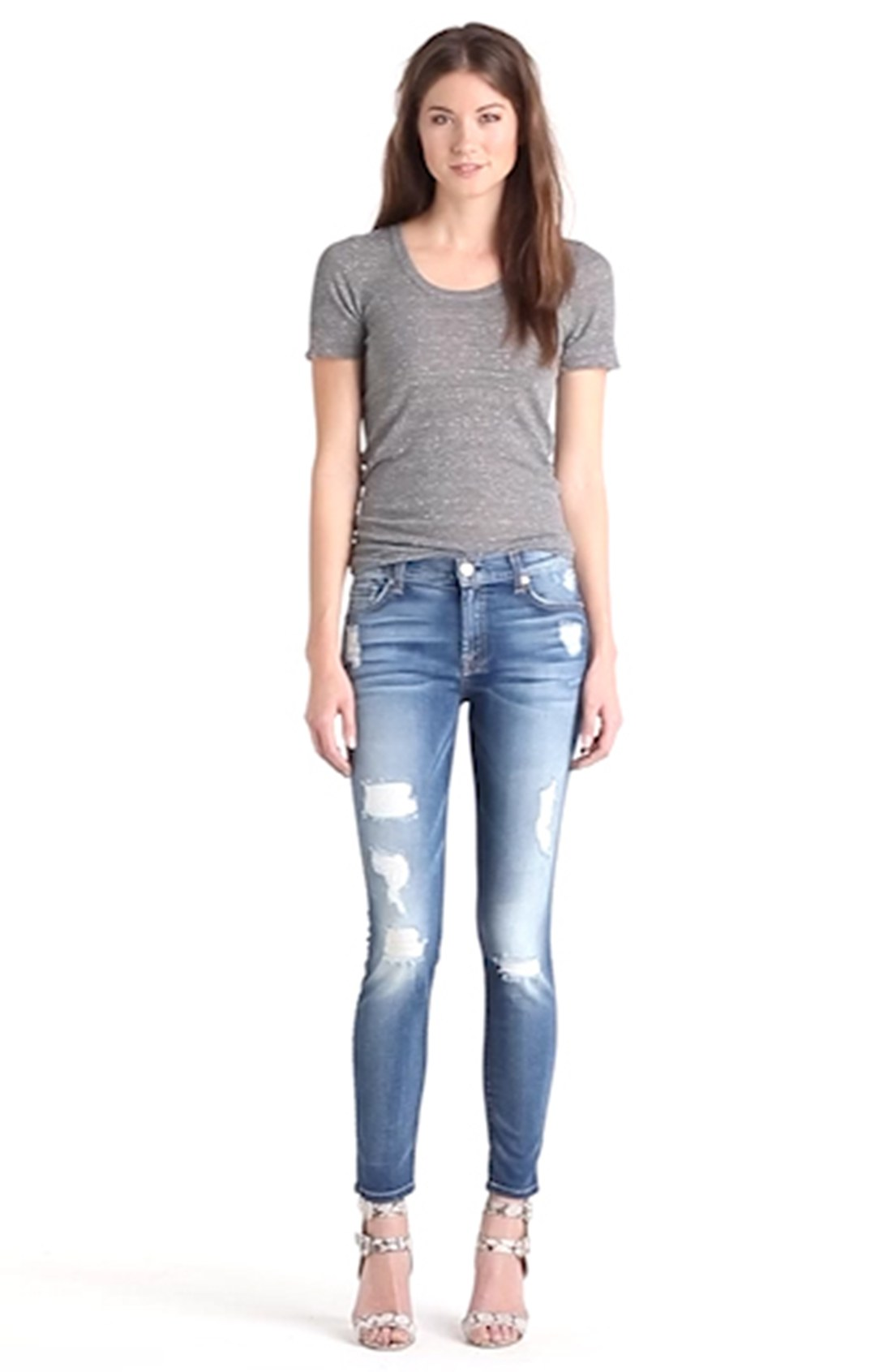 For All Mankind® Faded Skinny Ankle Jeans (Distressed Authentic ...