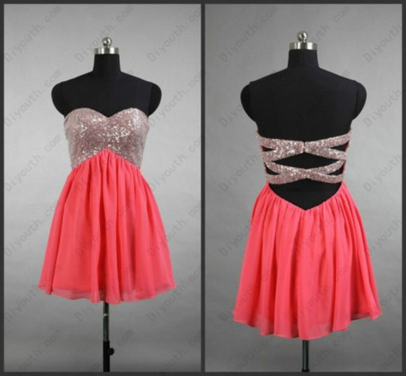 prom dress evening dress chiffon dress sweetheart dress custom dress short dress red dress backless dress