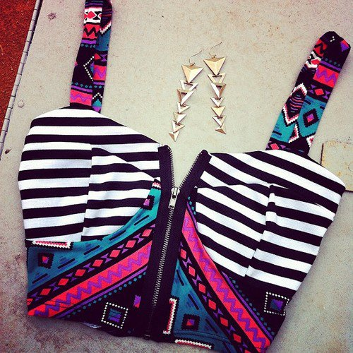 Striped Bow Bandeau on Wanelo