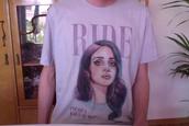 t-shirt,tumblr,celebirty,lana del rey,lana,ride,music,musician,weheartit,drawing,art,tshirt art