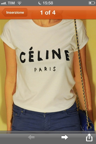 shirt celine celine paris shirt celine paris tee celine paris tshirt t-shirt vogue