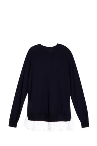 sweater pleated navy