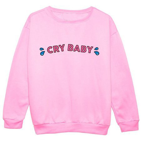 1483d9842 Crybaby Crunchberry Crewneck Sweatshirts CRY BABY LOVE PINK Sweats ...