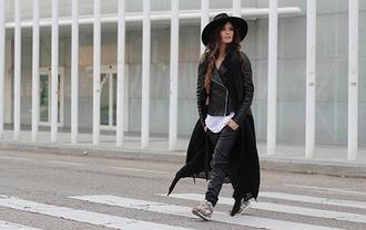 madame rosa blogger jacket t-shirt hat cardigan nike shoes