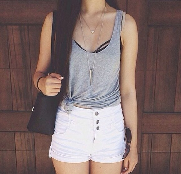 shirt top grey top