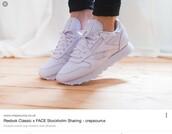 shoes,Reebok,reebok classic leather,sneakers,pastel,sportswear