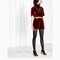 & other stories | rodarte relaxed crushed velvet top | burgundy