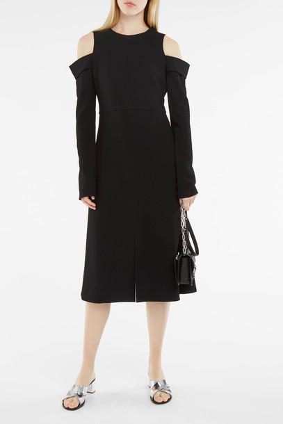 dress midi dress women midi cold black