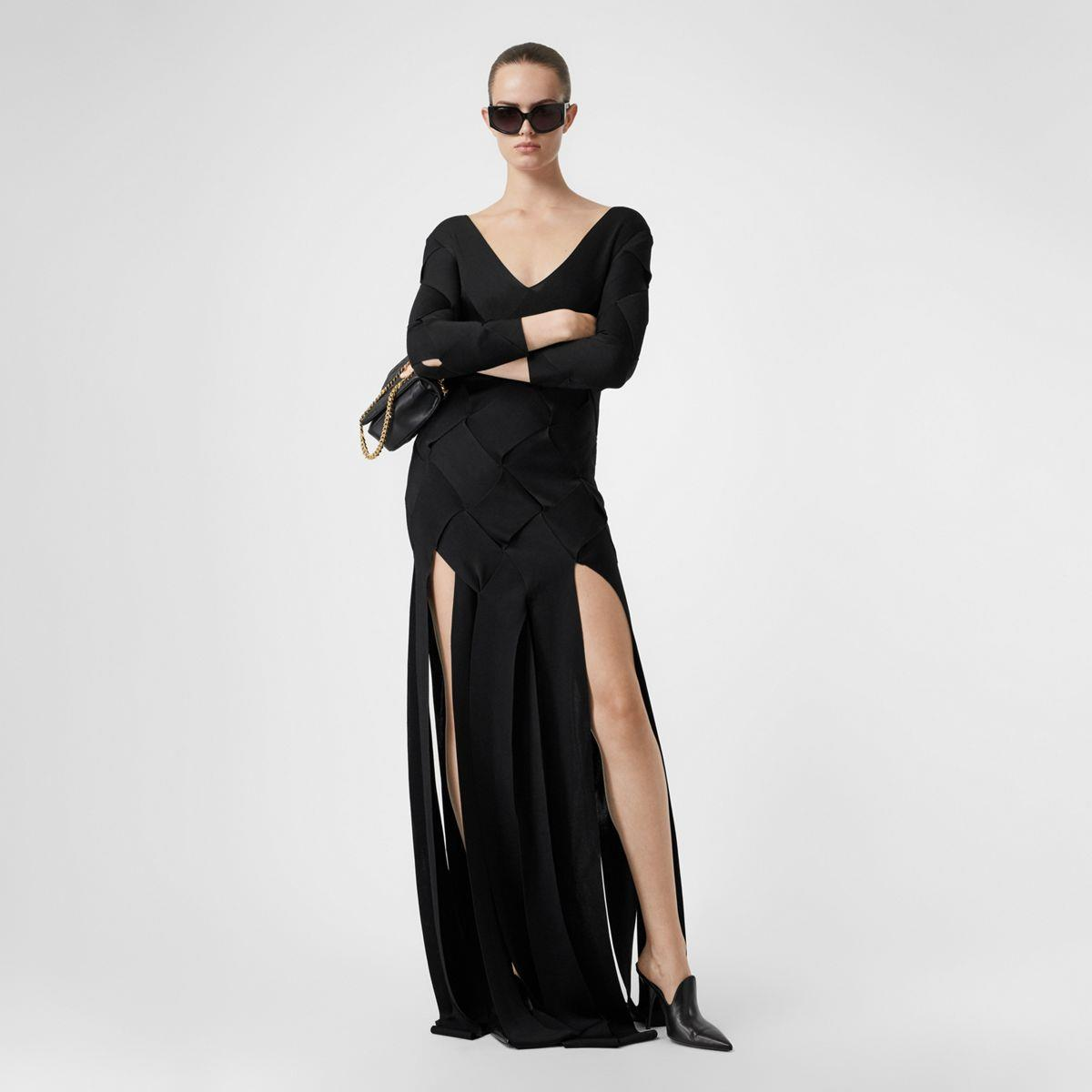 Long-sleeve Panelled Knit Gown