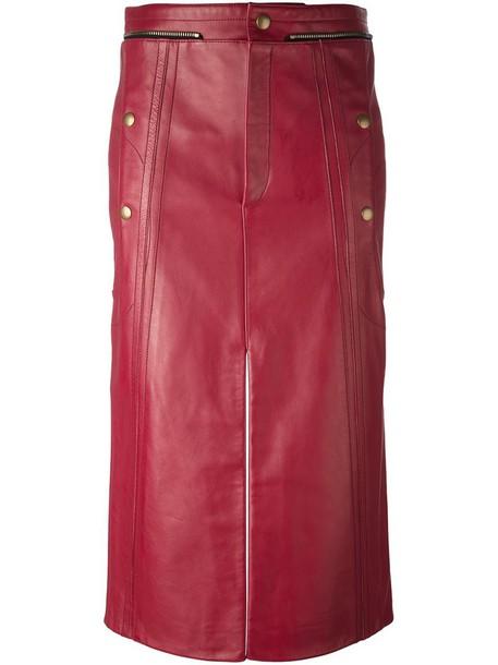 skirt women leather cotton purple pink