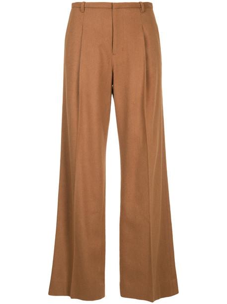 high women wool brown pants
