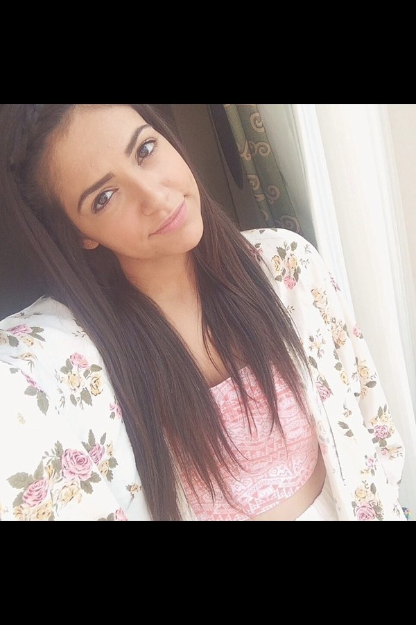 sweater blouse bethany mota top pink bethan nota crop top