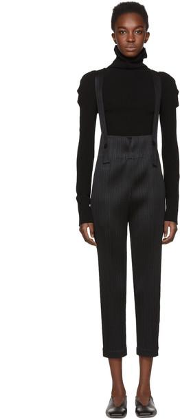 PLEATS PLEASE ISSEY MIYAKE jumpsuit pleated black