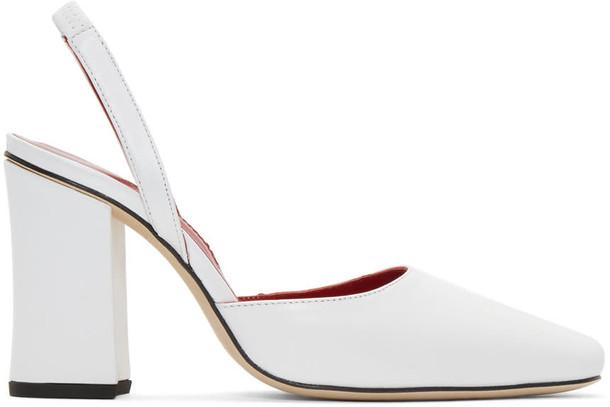 Dorateymur heels white shoes