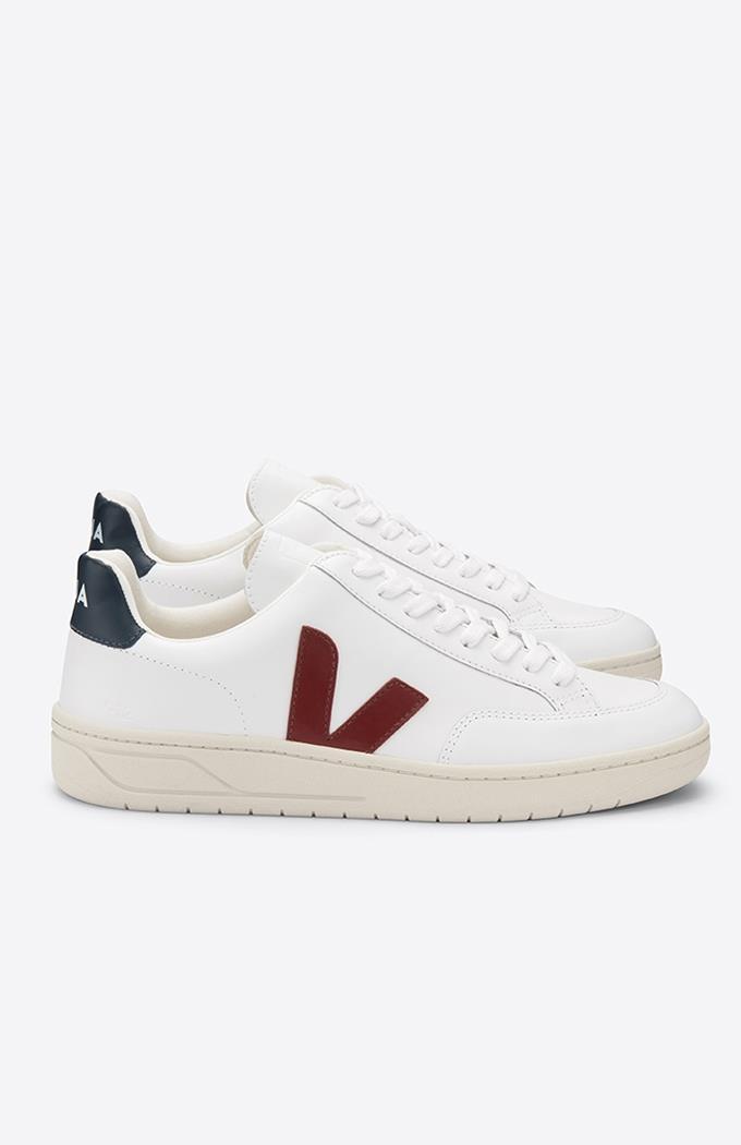 V-12 Leather Sneakers - Extra-White Marsala Nautico