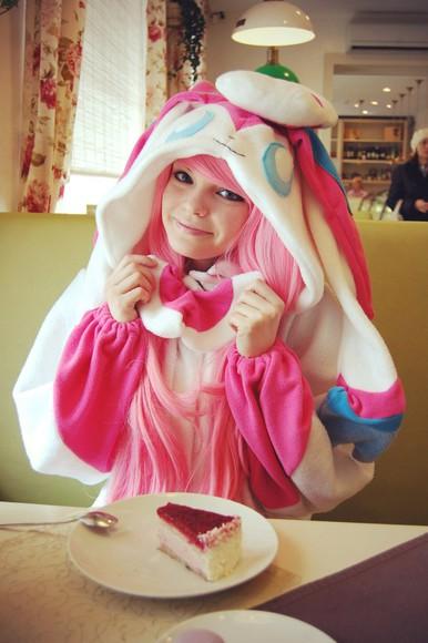 adorable kawaii pajamas kigu kigurumi sylveon pokemon pokemon x/y pokemon x pokemon y anime video game video games fairy fairy type onesie eeveelution costume