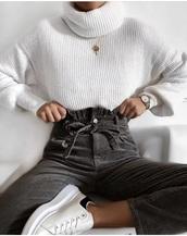 pants,corduroy,black pants,tie,paper bag pants,paperbag,black,jeans