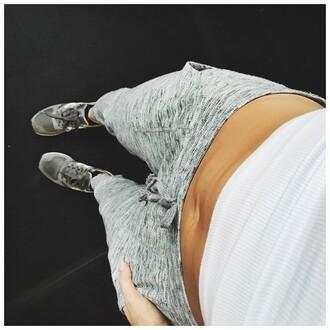 pants grey sweatpants danielle peazer